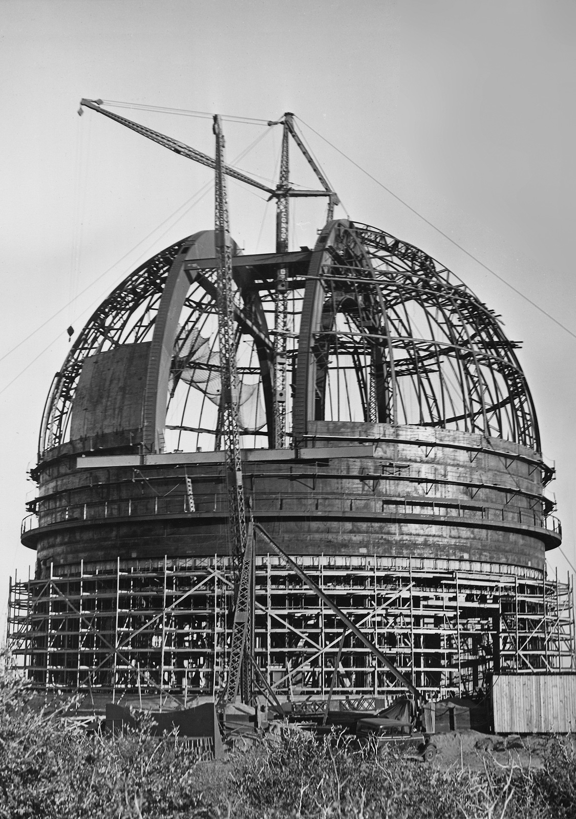 The dome during construction circa fall of