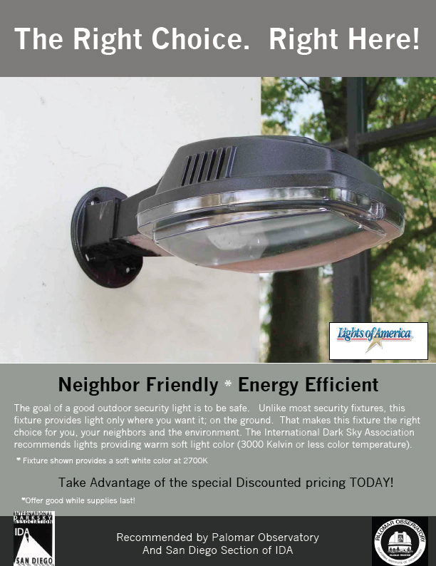 When Properly Installed It Is A Full Cut Off Fixture, Meaning That There Is  No Up Light. While It Is Not A Low Pressure Sodium (our Favorite!), ...