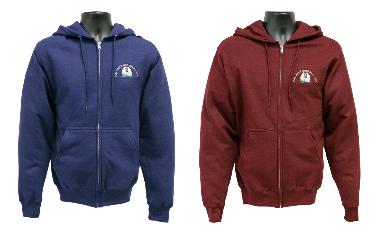 Zippered hoodie with embroidered logo  ... fe69d1a8ef24