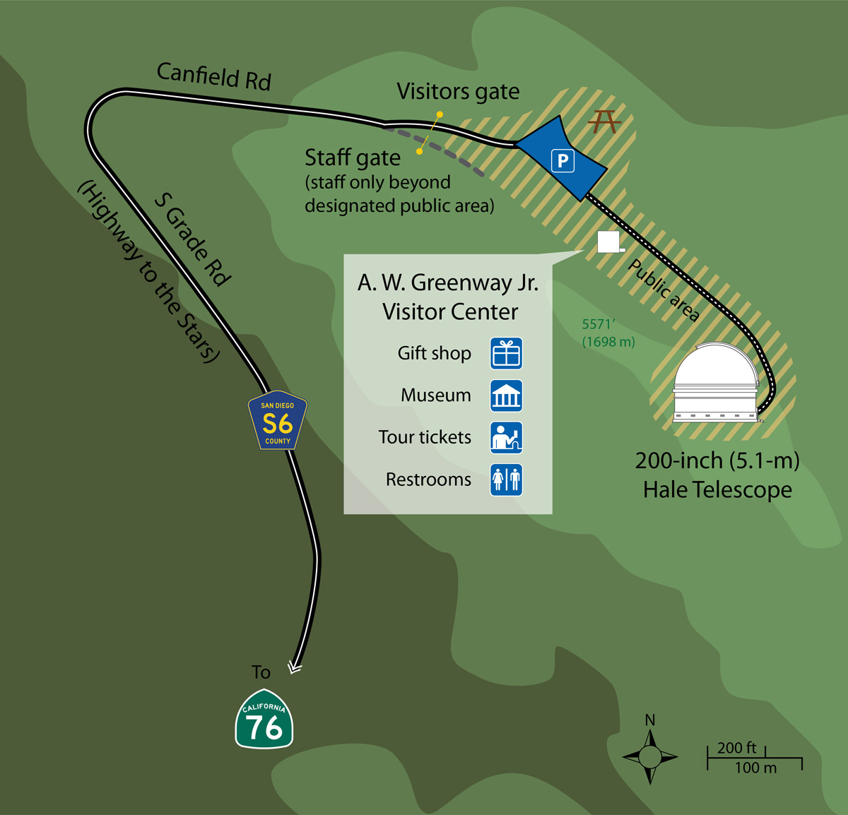 Driving Directions to Palomar Observatory on